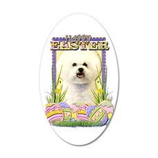 Easter Egg Cookies - Bichon 22x14 Oval Wall Peel