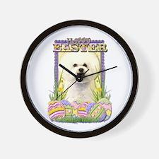 Easter Egg Cookies - Bichon Wall Clock