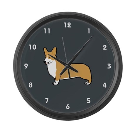 Pembroke Welsh Corgi Large Wall Clock