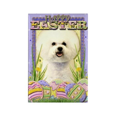 Easter Egg Cookies - Bichon Rectangle Magnet (10 p