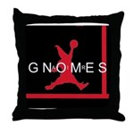 Gnomes Can't Dunk Throw Pillow
