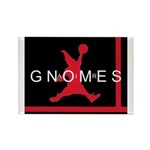 Gnomes Can't Dunk Rectangle Magnet (10 pack)