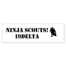 Ninja Scouts Bumper Car Sticker