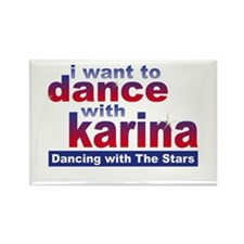 I Want to Dance with Karina Rectangle Magnet