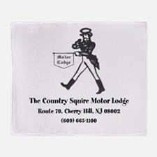 Country Squire Motel Throw Blanket