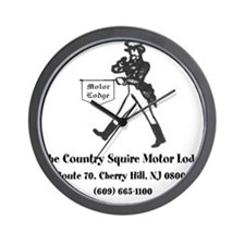 Country Squire Motel Wall Clock