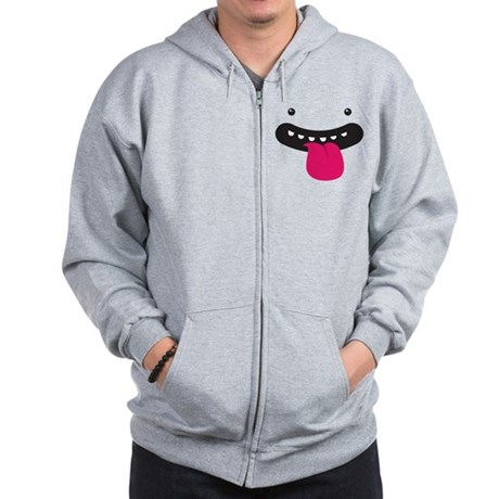 Silly Monster Face Zip Hoodie