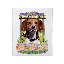 Easter Egg Cookies - Beagle Throw Blanket