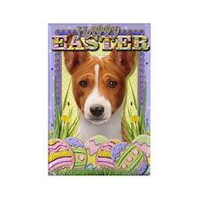 Easter Egg Cookies - Basenji Rectangle Magnet (10