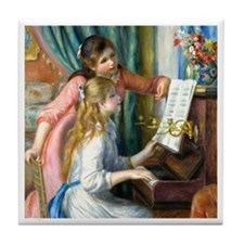 Renoir - 2 Girls at Piano Tile Coaster