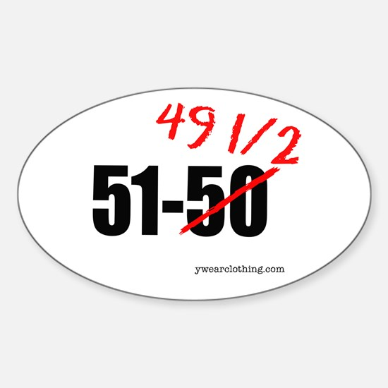 51-49 1/2 Oval Decal