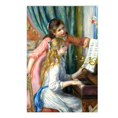 Renoir - 2 Girls at Piano Postcards (Package of 8)