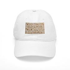 Matzo Mart White Baseball Cap / Kippah