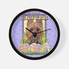 Easter Egg Cookies - Terrier Wall Clock