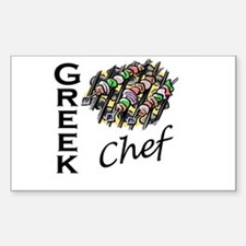 Greek Chef Rectangle Decal