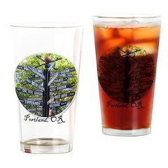 Portland Sign - Drinking Glass