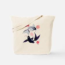 Yin and Yang Koi and Cherry B Tote Bag