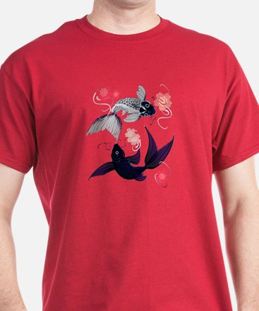 Yin and Yang Koi and Cherry B T-Shirt