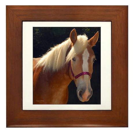 Sunlit Horse Framed Tile