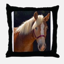 Sunlit Horse Throw Pillow