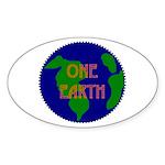 Oval Sticker - oneearth