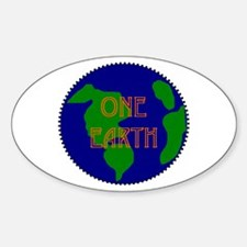 Oval Sticker - oneearth