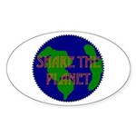 Oval Sticker - shareplanet