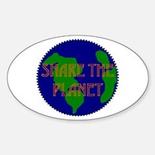 Oval Sticker - shareplanet