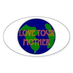 Oval Sticker - lovemother