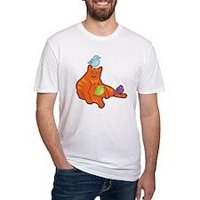 Fat Cat and Birds Shirt