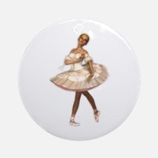 The Little Ballerina Ornament (Round)