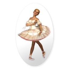 The Little Ballerina Sticker (Oval)