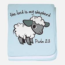 The Lord is my Shepherd baby blanket
