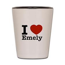 I love Emely Shot Glass