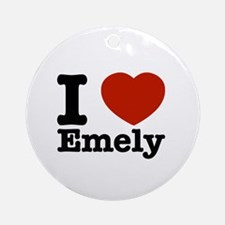 I love Emely Ornament (Round)