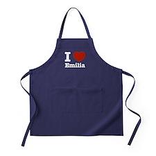 I love Emilia Apron (dark)
