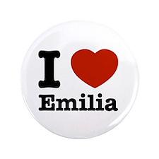 """I love Emilia 3.5"""" Button"""