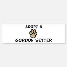 Adopt a GORDON SETTER Bumper Bumper Bumper Sticker