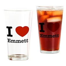 I love Emmett Drinking Glass
