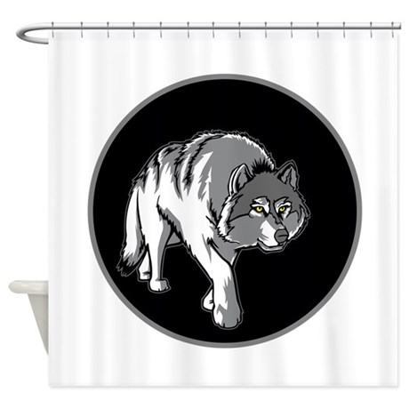 Prowling Wolf. Shower Curtain