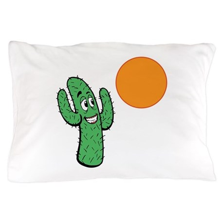 Cacti Sun Worshipper. Pillow Case