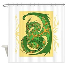 Green Dragon. Shower Curtain
