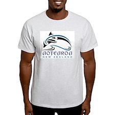 Aotearoa_moko_dolphin_bl?bk T-Shirt