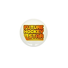 Future Hockey Star Mini Button (10 pack)