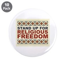 """Religious Freedom 3.5"""" Button (10 pack)"""