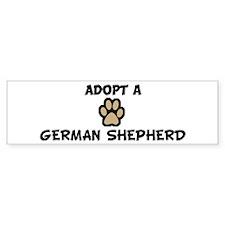 Adopt a GERMAN SHEPHERD Bumper Bumper Sticker