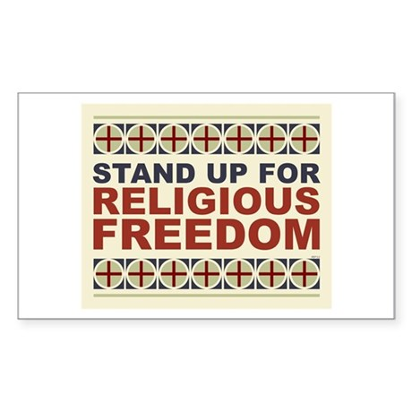 Religious Freedom Sticker (Rectangle)