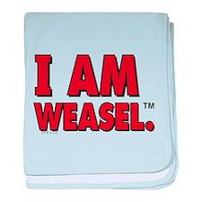 I am Weasel baby blanket