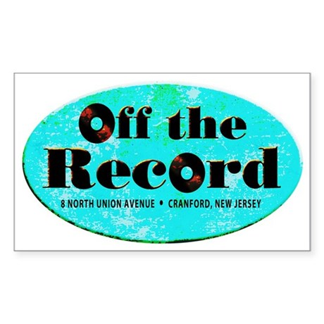Off the Record Sticker (Rectangle 10 pk)