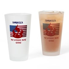 America the Hottest Thing Goi Drinking Glass